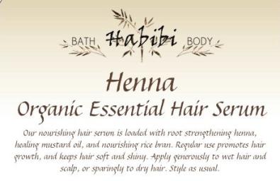henna hair serum